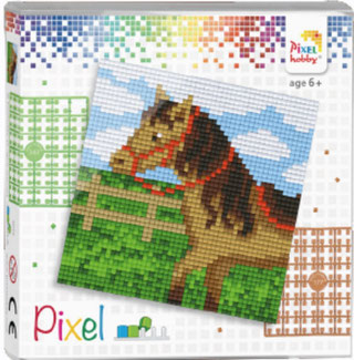 Pixel Cheval Mosaïque Tableau Broder