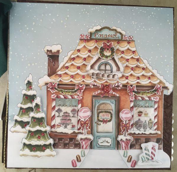 Album photos scrapbooking de Noël fait main